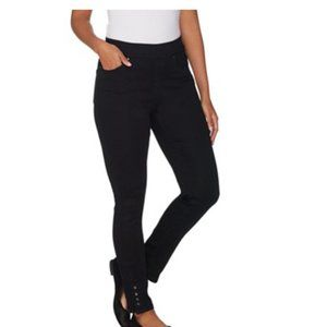 NWT Martha Stewart Petite Knit Denim Pull-On Jeans